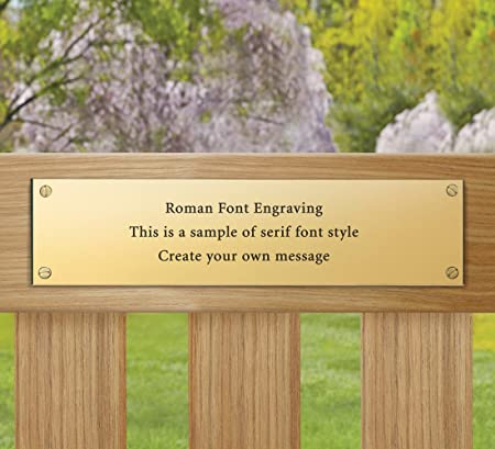 Jati Engraved Memorial Plaque For Bench Solid Brass