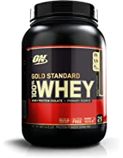 Optimum Nutrition Gold Standard 100% Whey Protein Powder, Double Rich Chocolate, 909 Grams