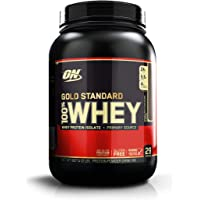 Optimum Nutrition Gold Standard 1 Whey Double Rich Chocolate Protein Powder, 909 Grams