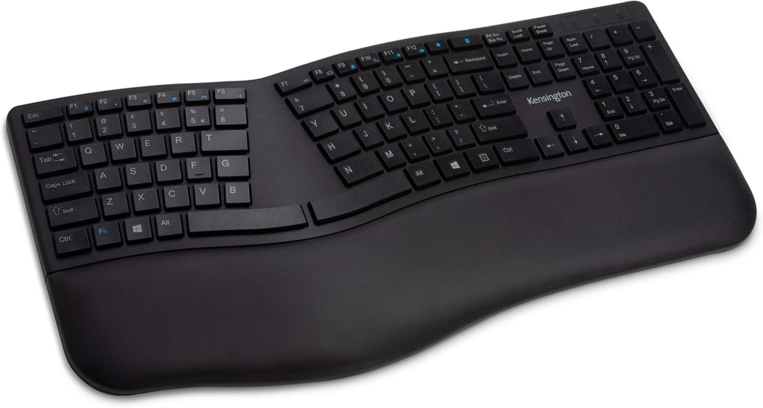Kensington Pro Fit Ergonomic Wireless Keyboard - Black (K75401US)