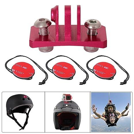 fantaseal® Kit Casco + bicicleta GoPro Accesorios, color Parachutisme Casque Mount-Rouge
