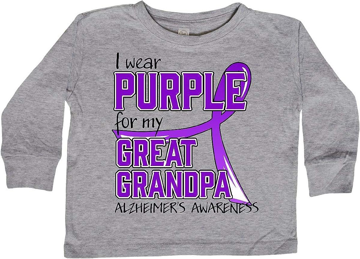 inktastic I Wear Purple for My Great Grandpa Pancreatic Long Sleeve Creeper
