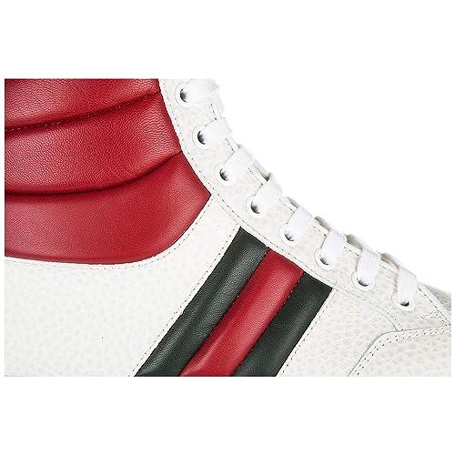 Gucci zapatos zapatillas de deporte largas hombres en piel nuevo praga karibu blanco EU 44 368494 DEF30 9083: Amazon.es: Zapatos y complementos