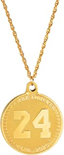 "product image for Forever 24KT Gold Plated 2 sided Medallion Memorial Necklace | Rope 24"" Goldtone Chain 