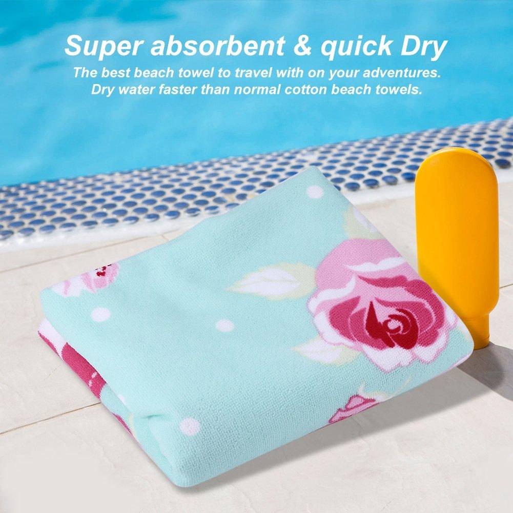 Fdit Toalla Suave de Playa de Gran tamaño para Viaje Piscina Acampar Gimnasio Baño Yoga Microfibra de Secado Rápido (2#): Amazon.es: Hogar