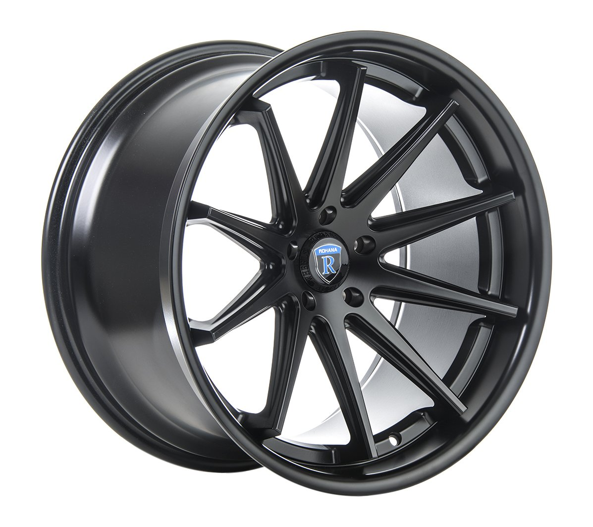 Rohana Wheels RC10 Black Wheel (20x10''/5x115mm, +15mm offset)