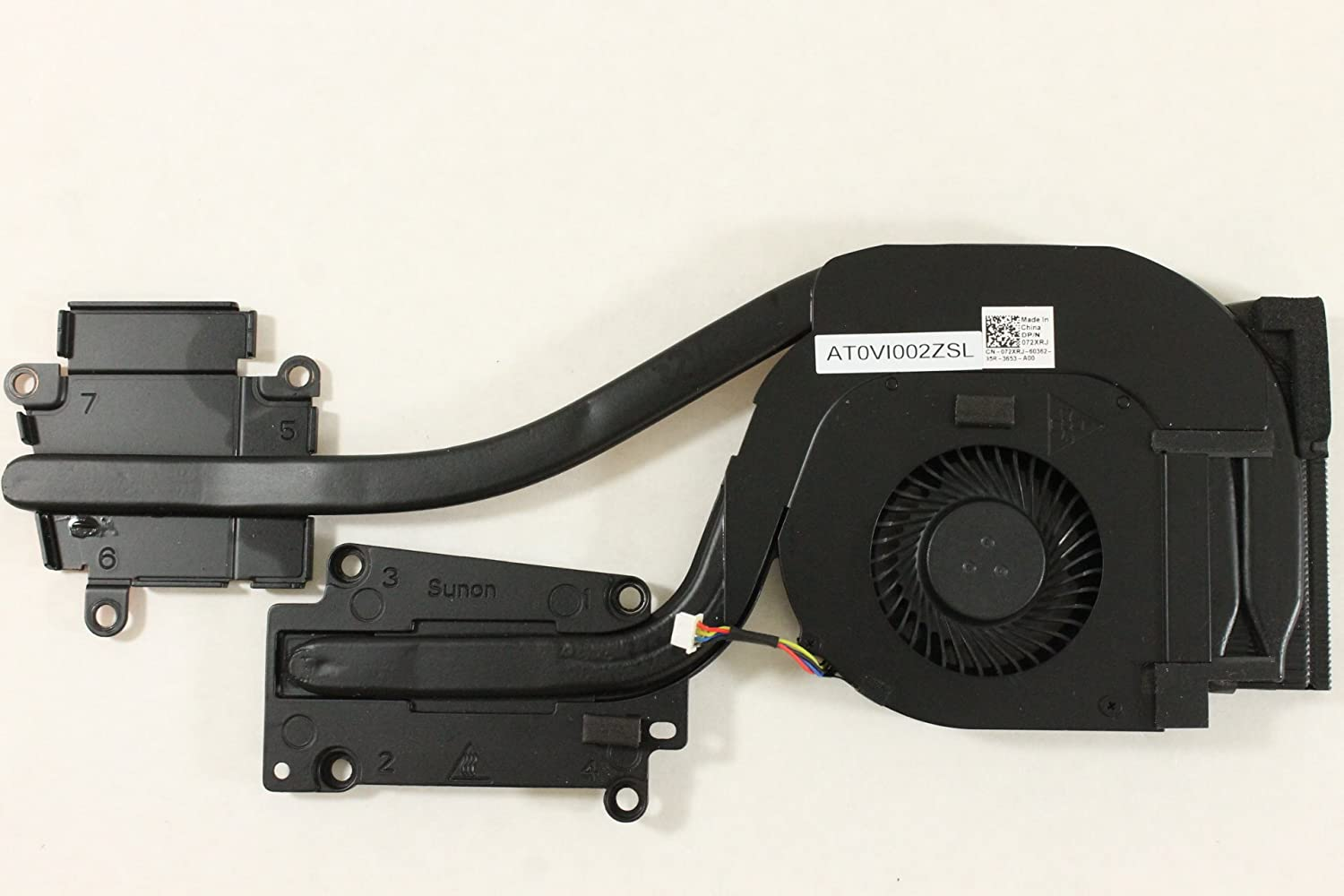 Dell Laptop 72XRJ AMD Heatsink and Fan AT0VI002ZSL Latitude E6540