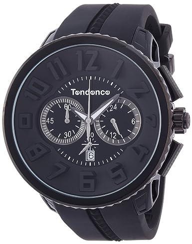 Reloj Tendence Gulliver Round Chrono Negro Dial tg460010: Amazon.es: Relojes
