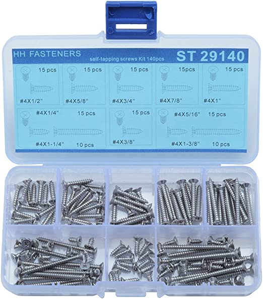 M2 Stainless Phillips Countersunk Flat Head Self Tapping Sheet Metal Wood Screws