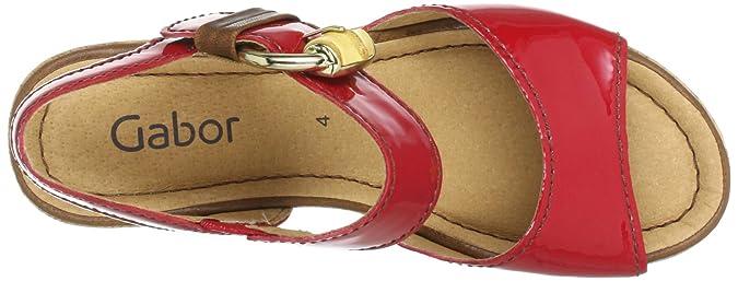 Gabor Shoes 6574195, Damen Sandalen, Rot (fragolacopper
