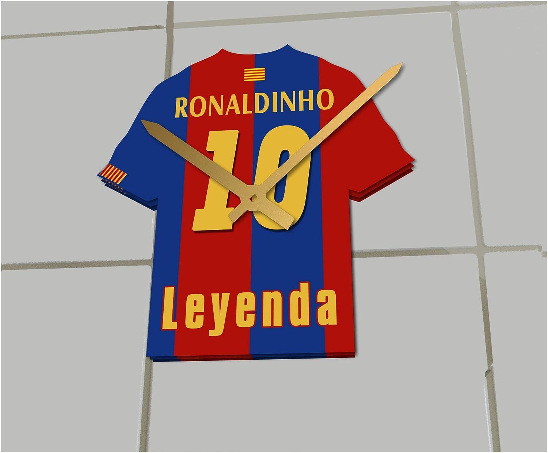 FanPlastic Ronaldinho 10 Football - Reloj de Camisa FC Barcelona Football Legends Limited Edition