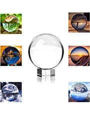 "Photograph Lens Ball with Stand and Pouch, K9 Photography Crystal Ball, for Decorative and Photography(80mm/3.15"" with Stand)"