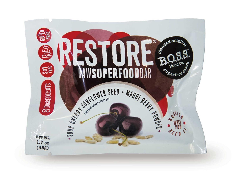 Amazon Com Boss Bars Restore Raw Superfood Bar Sour Cherry