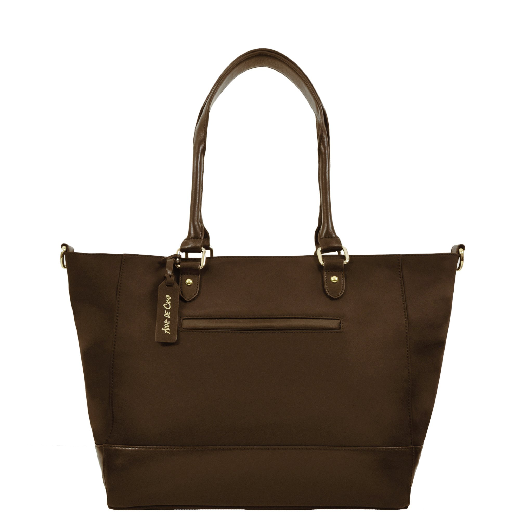 Aide de Camp - Valencia Travel Tote Bag, with Two Bags in One and Removable Camera Insert (Sable Brown)