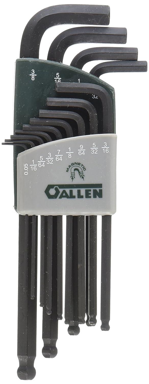 ALLEN 56601G 13-Key SAE Magnetic Ball-Plus Hex Key Set