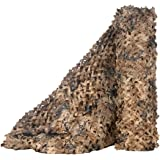 Camo Netting,LOOGU Camouflage Net Great for Sunshade Decoration Camping Shooting Hunting Blinds