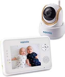 """Nannio Comfy 3.5"""" Video Baby Monitor with Enhanced Super Night Vision Camera, Long Transmission Range, Two-Way Talk, 3 Lullabies,Feed Timer Alert,Long Battery Life"""
