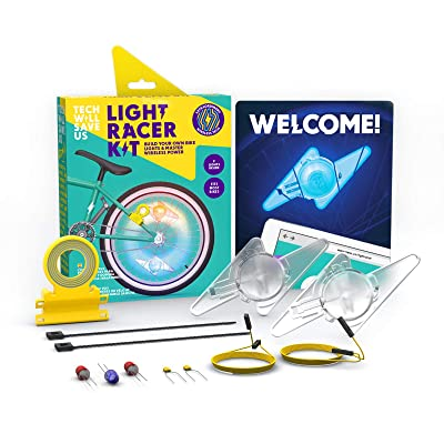 Tech Will Save Us Light Racer Kit | Educational DIY Bike Lights, Ages 8 & Up: Toys & Games