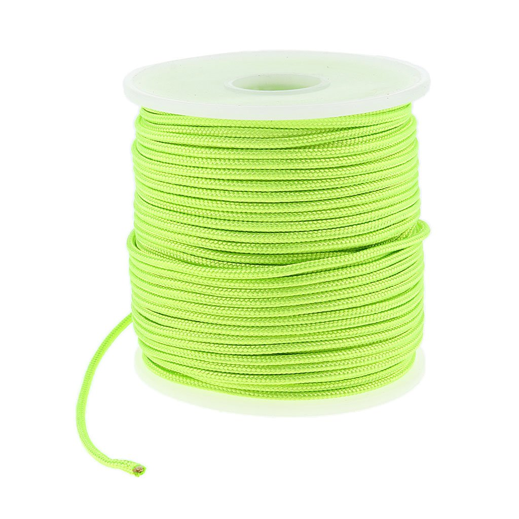 Baoblaze 2mm 50m High Strength Nylon Cord Tent Guyline Rope for Camping Tent and Outdoor Packaging black