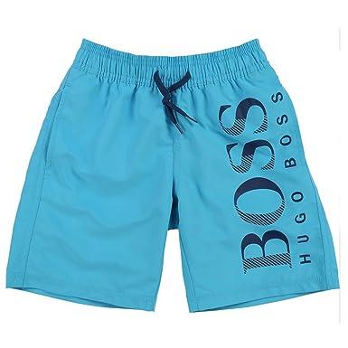 fashion styles new york cheap price BOSS Hugo Short de Bain - À Logo - Garçon - Turquoise - 4 ...