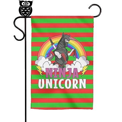 Amazon.com: BoDu Ninja Unicorn with Rainbow Christmas Garden ...