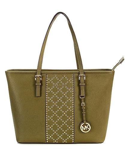 341943869bb5 Michael Kors Jet Set Travel Top Zip Tote (Olive): Handbags: Amazon.com