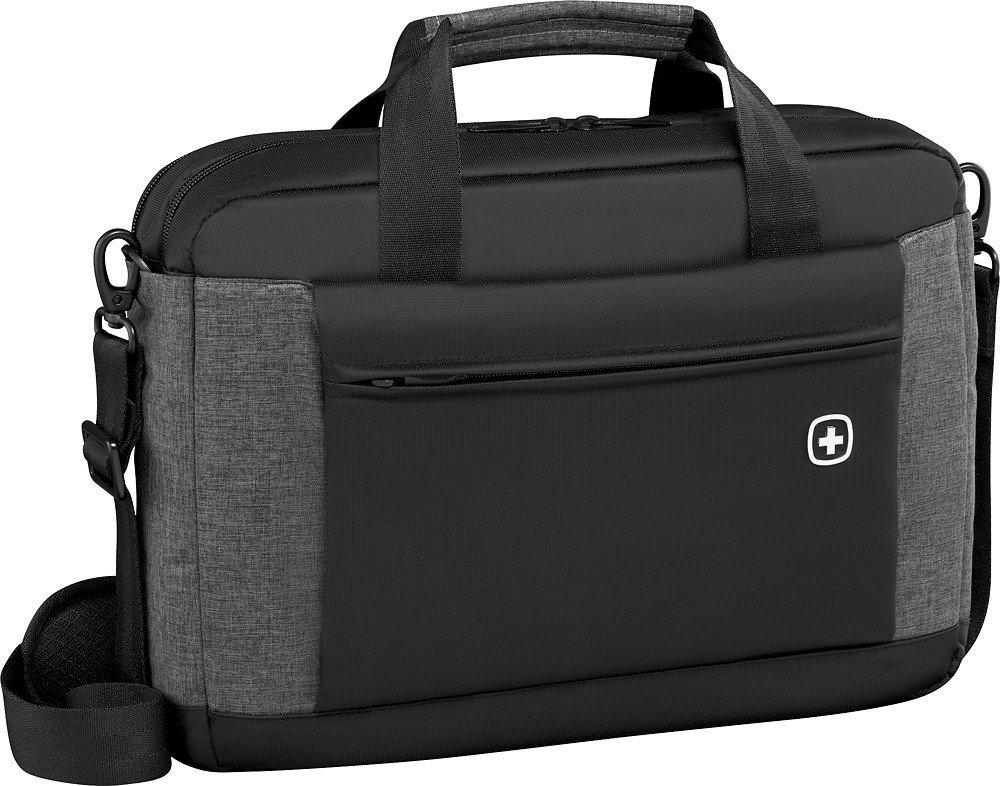 SwissGear Wenger Underground Messenger Briefcase With 16'' Laptop Pocket Black-Grey