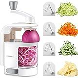 URPOWER Spiralizer Vegetable Slicer 4-Blade Vegetable Spiralizer, Veggie Pasta Spaghetti Maker, Perfect for Salad, Zucchini Noodles, Pasta and Cut Vegetables, Make Low Carb/Paleo/Gluten-Free Meals