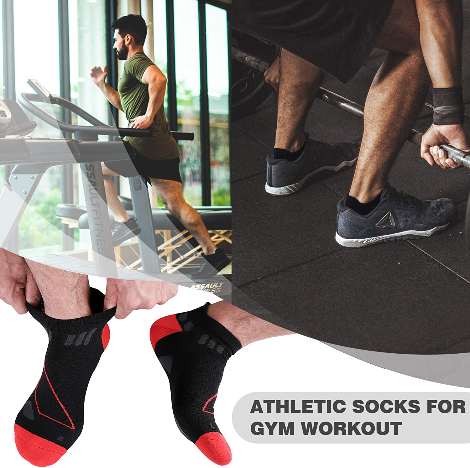 No Blisters for Running No Show Athletic Socks for Men /& Women Gym Workout