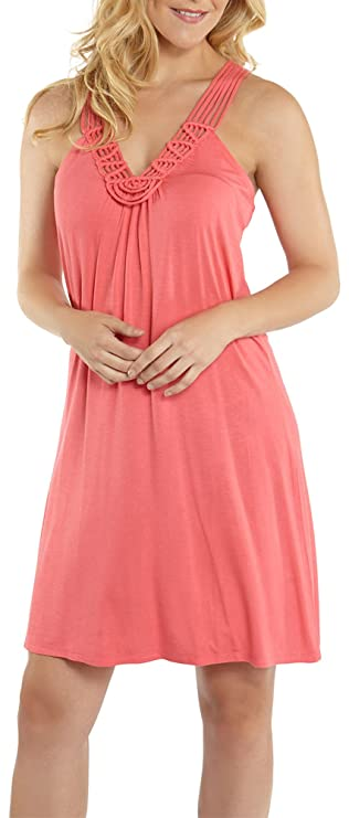 209ff921ab Wearabouts By Dotti Ocean Avenue Swimsuit Cover-up Dress (Coral/Red, Small)  at Amazon Women's Clothing store: