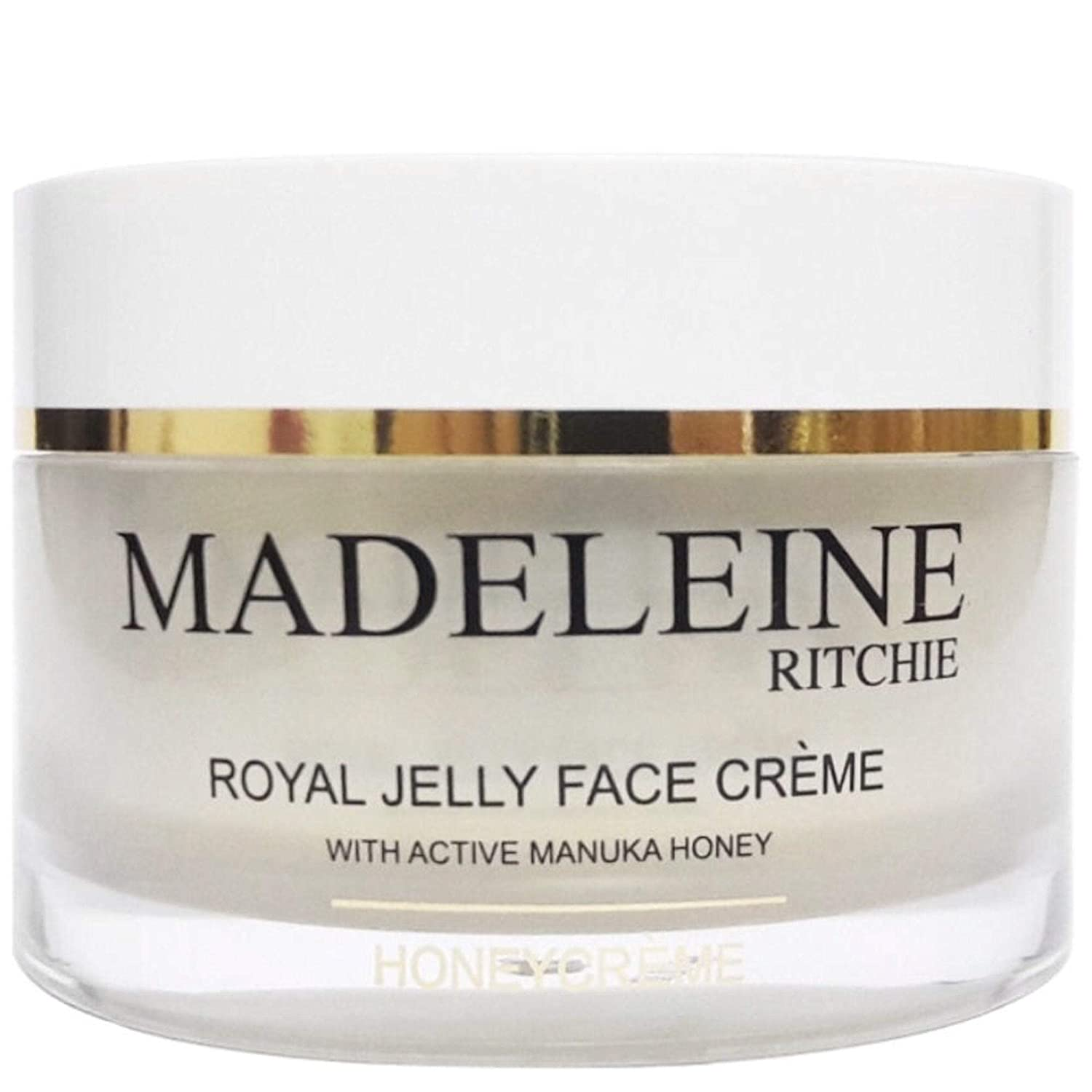 Madeleine Ritchie HoneyCreme New Zealand Royal Jelly Face Cream with active manuka honey 3.4 fl.oz jar. Original, Authentic & Natural anti-aging cream.