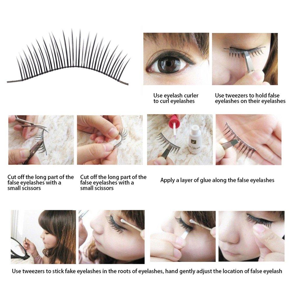 Amazon Natural False Eyelashes Beauty Slender Fake Eye Lashes