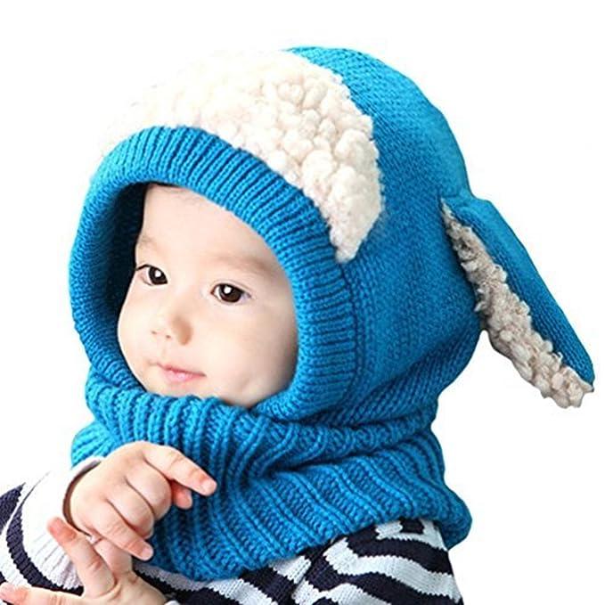 25902ff01 LIWEIKE Baby Girls Boys Winter Warm Scarf Shawl Hat Knit Cute Face ...