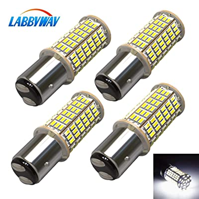 LABBYWAY 4 X 1440 Lumens 3014 144-EX Chipsets Super Bright 6000K LED Bulbs 1157 2057 2357 7528 LED Bulbs Used For Turn Signal Lights,Tail Lights,Xenon White: Automotive