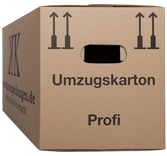 2-wellige Umzugskartons, 10 Stück | Extra Stabil & Stapelfähig mit Doppelwelle | Robuster Schmetterlingsboden | Hohe Tragkraf