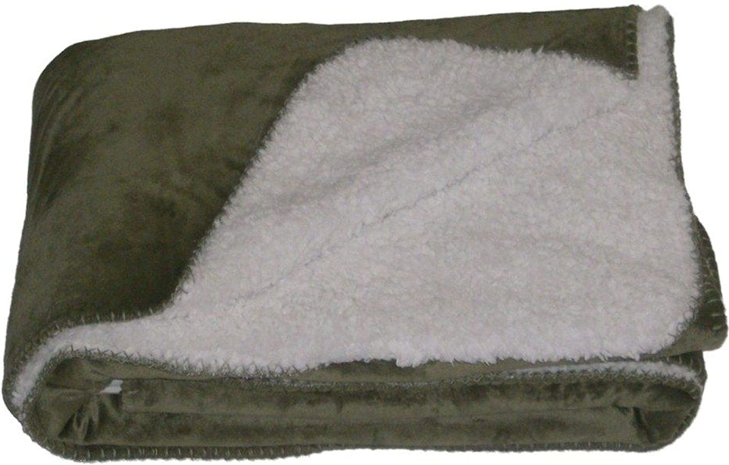NorthCrest Home Sherpa Micromink Green Oversized Soft Throw Blanket