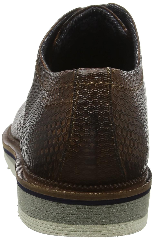 Bugatti 312540013200, Zapatos de Cordones Derby para Hombre, Marrón (Brown 6000), 45 EU Bugatti