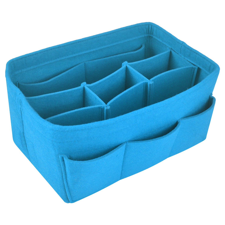 NOTAG Felt Purse Handbag Organizer Insert Multipocket Linner Organizer (Large, Pink2)