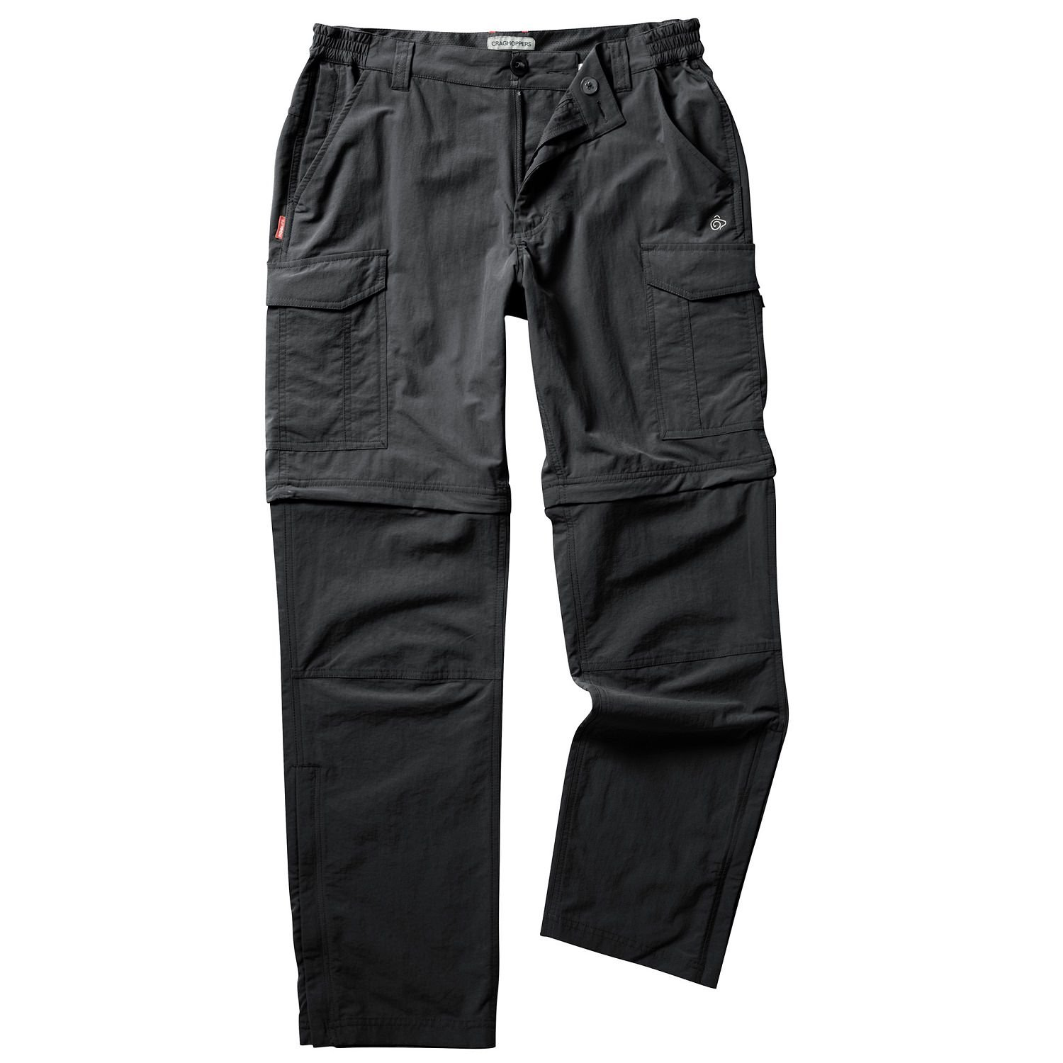 Craghoppers Nosilife Mens Convertible Trousers - Black or Pebble/30S - 40L