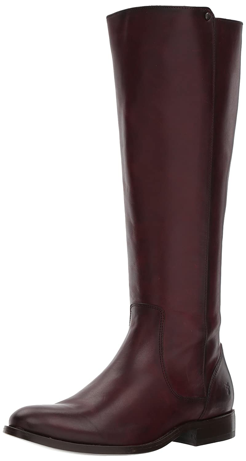 FRYE Women's Melissa Stud Back Zip Riding Boot B06WRMQ6ZV 6.5 B(M) US|Wine