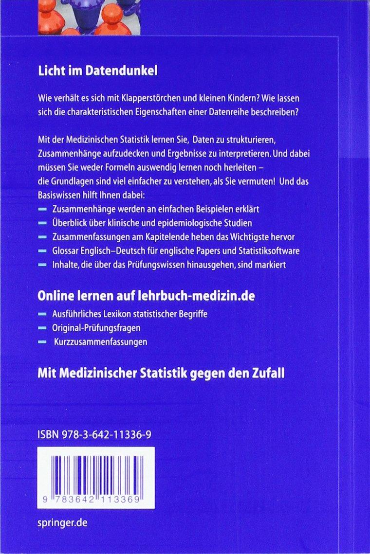 Basiswissen Medizinische Statistik Springer-Lehrbuch: Amazon.de: Christel  Weiß: Bücher