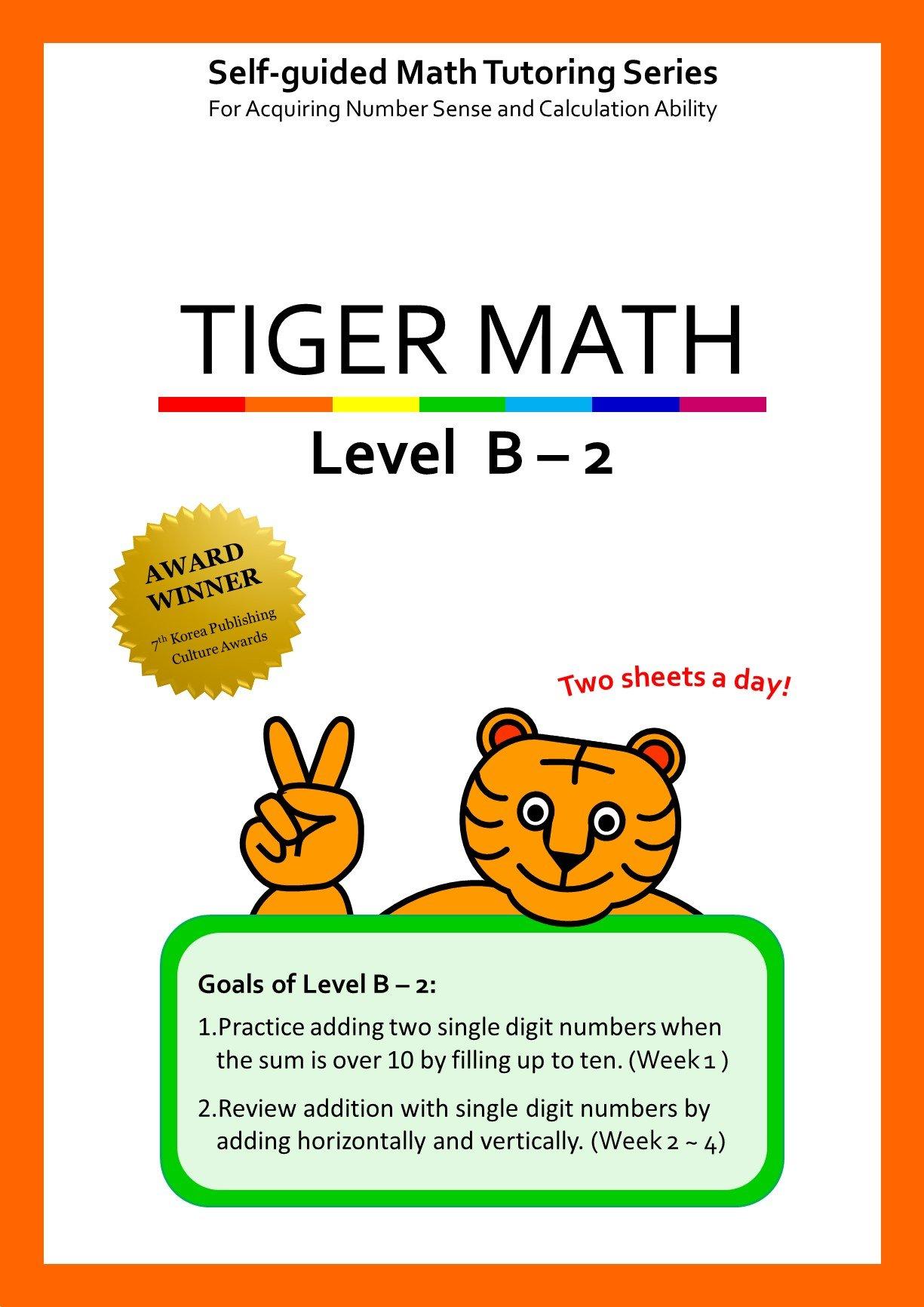 Read Online Tiger Math Level B - 2 for Grade 1 (Self-guided Math Tutoring Series - Elementary Math Workbook) pdf