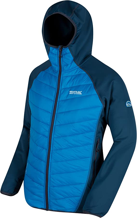 Regatta Mens Anderson II Hybrid Coat Water Repellent Quilted Insulated Jacket