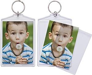 "Jumbo Acrylic Photo Snap-In Keychain - 25 Pack (2.5"" x 3.5"")"