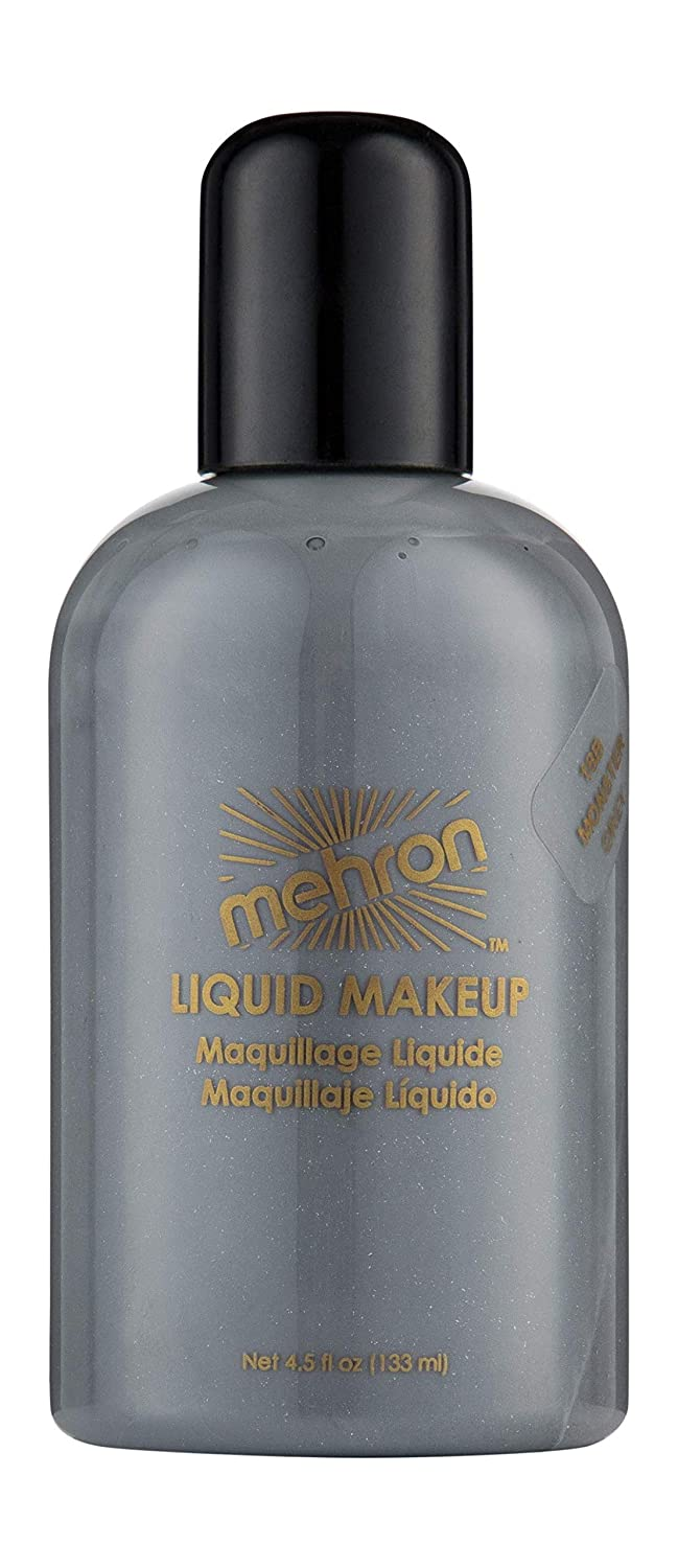 Mehron Makeup Liquid Face and Body Paint (4.5 oz) (MONSTER GREY)
