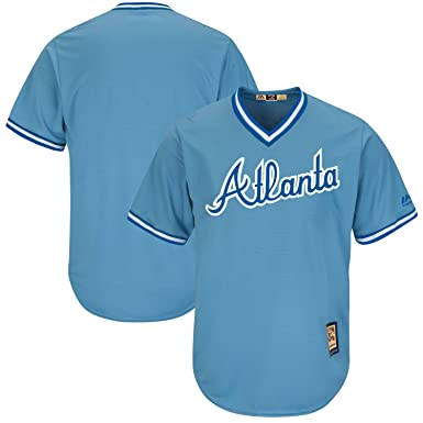 best sneakers 2bd1a 88197 Atlanta Braves Blank Light Blue Youth Cool Base Cooperstown Replica Jersey