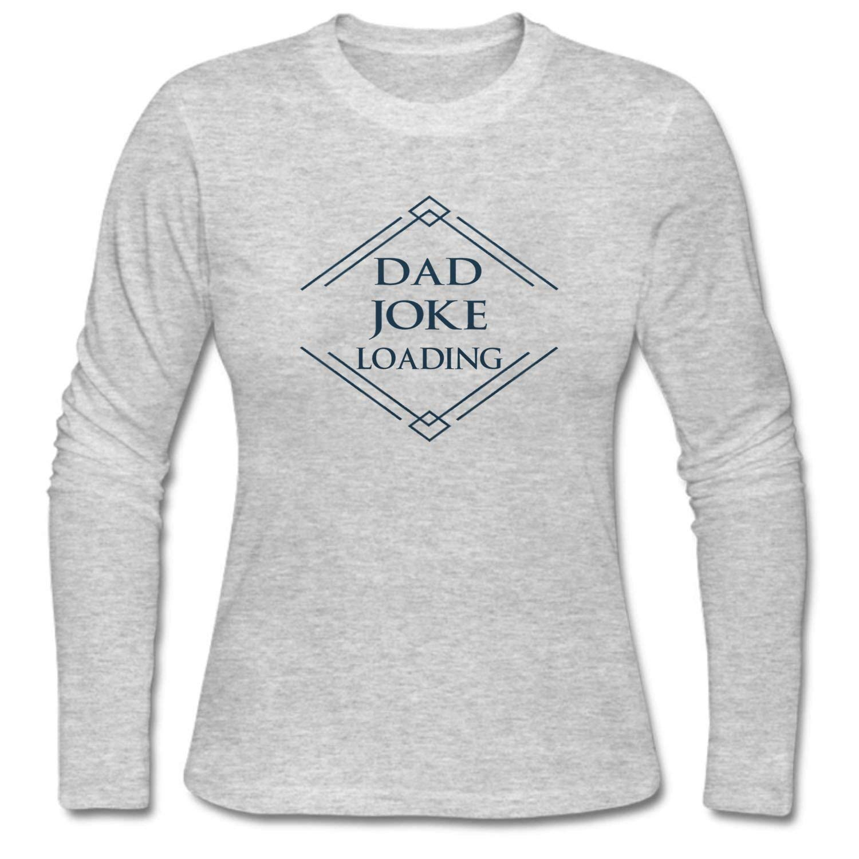 1e9e39778 Amazon.com: MUAIKEJI Women Dad Joke Loading Long Sleeve T-Shirt: Clothing