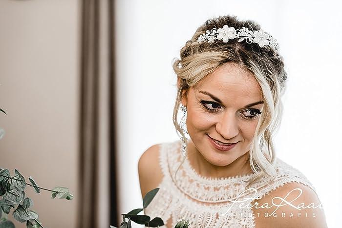 N40 Braut Haarschmuck Diadem Tiara Wedding Hairstyles Boho Frisur