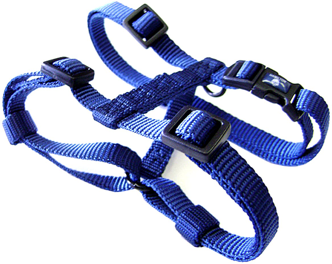 Navy bluee 3 8\ navy bluee 3 8\ Hamilton CFA XSNV Adjustable Comfort Nylon Dog Harness, Navy bluee, 3 8-Inch x 10-16-Inch