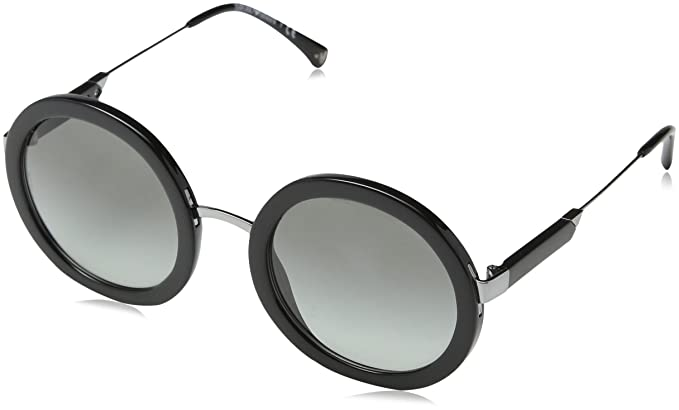 c96db9a935d3 Image Unavailable. Image not available for. Color  Emporio Armani EA4106  500111 Black EA4106 Round Sunglasses Lens Category 2 Size